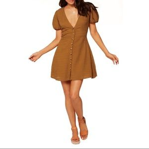 NWT L*SPACE Sabrina Dress Hazelnut
